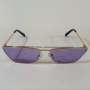 Other - Gold/Purple Futuristic Cateye Sunglasses